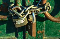 Locks representing retail security.